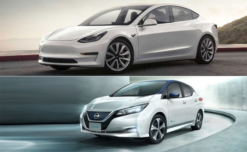 Tesla Model 3 vs New Nissan Leaf: Spec Comparison - NDTV CarAndBike