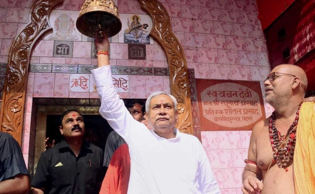 Nitish Kumar Performs Puja At Temples, Prays For Bihar's Peace