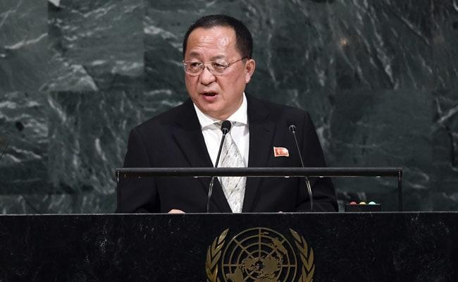 उत्तर कोरियाई विदेश मंत्री ने कहा: ट्रंप ने उनके देश के खिलाफ युद्ध घोषित किया