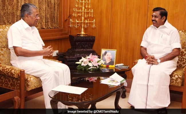 Pinarayi Vijayan Meets K Palaniswami, Vow To Resolve Water Dispute