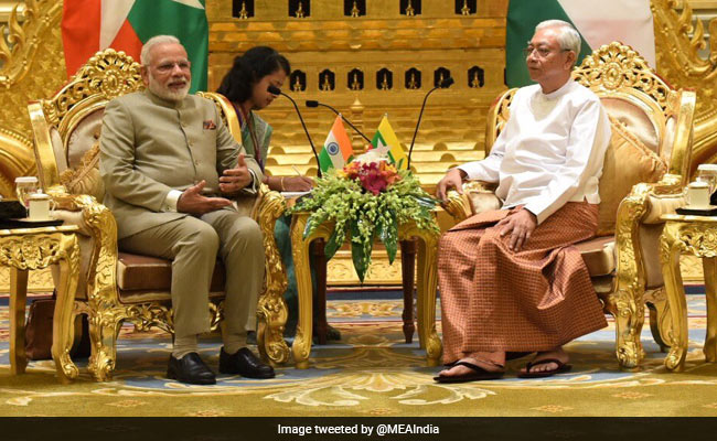 pm modi in myanmar
