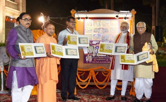PM Narendra Modi Releases Postage Stamp On Lord Ram