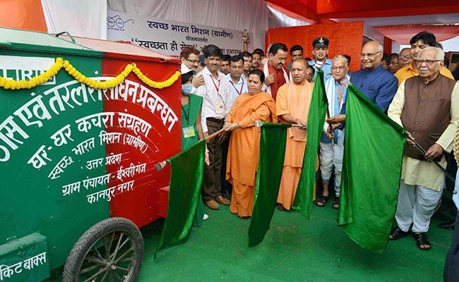 President Launches 'Swachhta Hi Seva' Sanitation Campaign