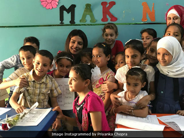 Priyanka Chopra shares stories of hope from Syrian refugee camps in Jordan