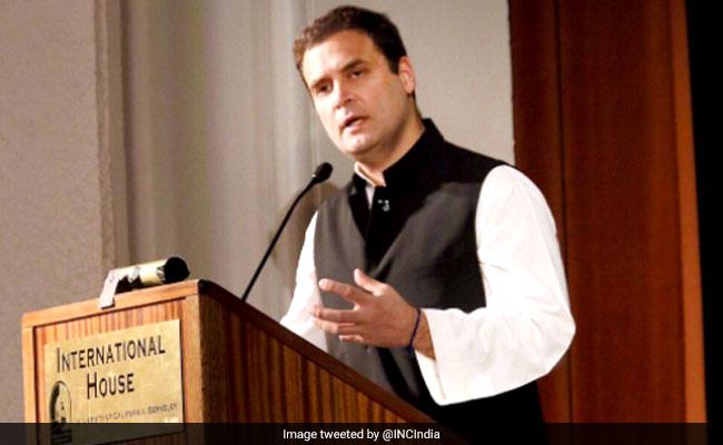 अमेरिका में राहुल गांधी बोले- असहिष्णुता, बेरोजगारी भारत के सामने सबसे बड़ी चुनौती