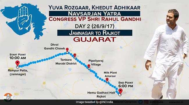 rahul gandhi day 2 in gujarat