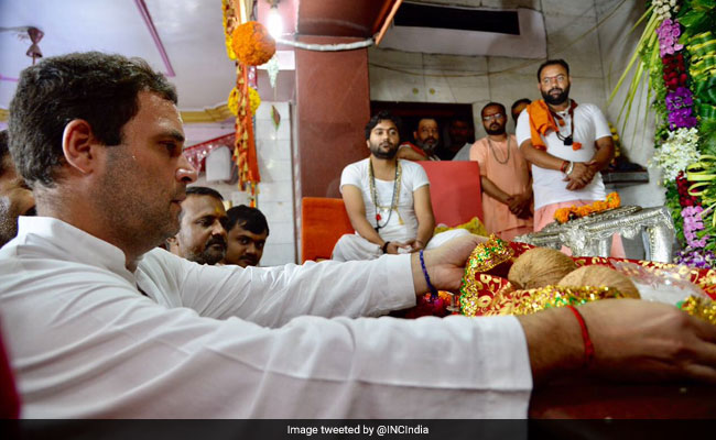 Rahul Gandhi's Temple Tour In Gujarat Sponsors A Congress Explanation