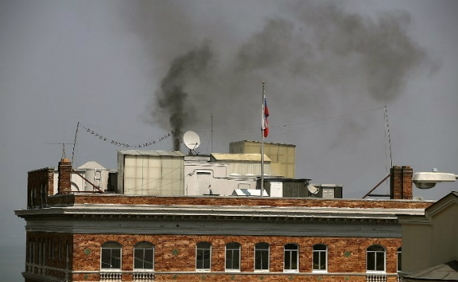 Smoke Wafts Out Of Russian Embassy In San Francisco Hours Before Closure