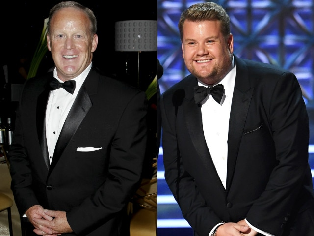 Emmys 2017: James Corden On Controversial Pic Of Him Kissing Sean Spicer