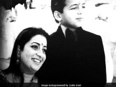 Smriti Irani And Her Son Zohr's Throwback Pic Dates Back To Her <i>Kyunki</i> Days