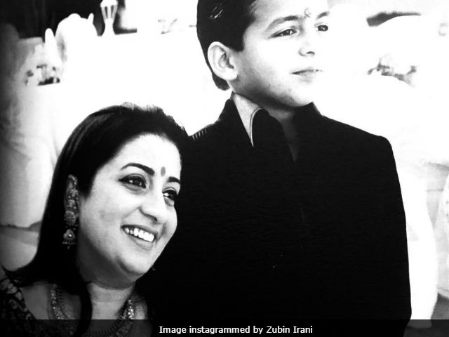 Smriti Irani And Her Son Zohr's Throwback Pic Dates Back To Her Kyunki Days