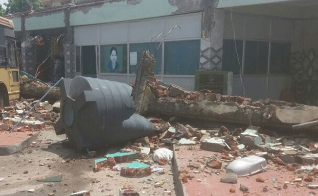 somanur coimbatore bus stand roof collapse
