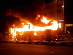 2 Buses Torched In Surat After Police Detain Dozen Patidar Protesters