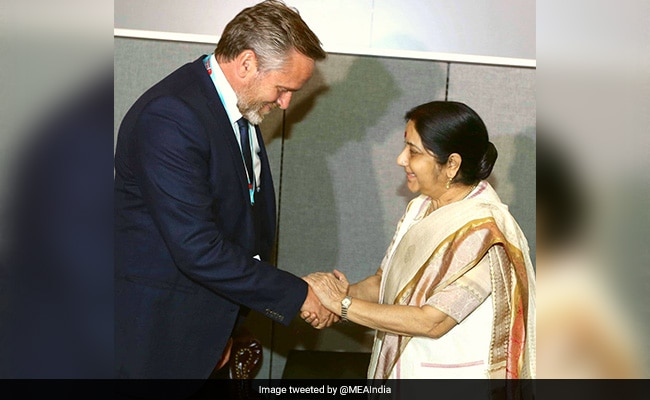 External Affairs Minister Sushma Swaraj Meets Counterparts From 5 Nations