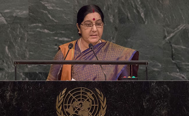 From Sushma Swaraj At UN, A Measured Rebuttal To Trump's Jab At India