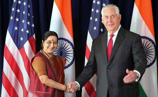 Sushma Swaraj Raises Issue Of Terrorism, H-1B With US Secretary of State Rex Tillerson