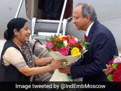External Affairs Minister Sushma Swaraj Arrives In Russia On 3-Day Visit