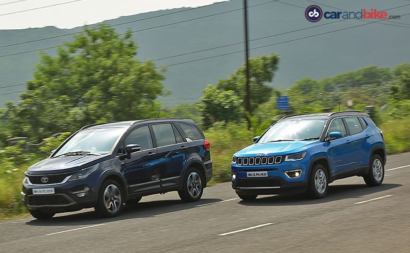 tata hexa and jeep compass safety features