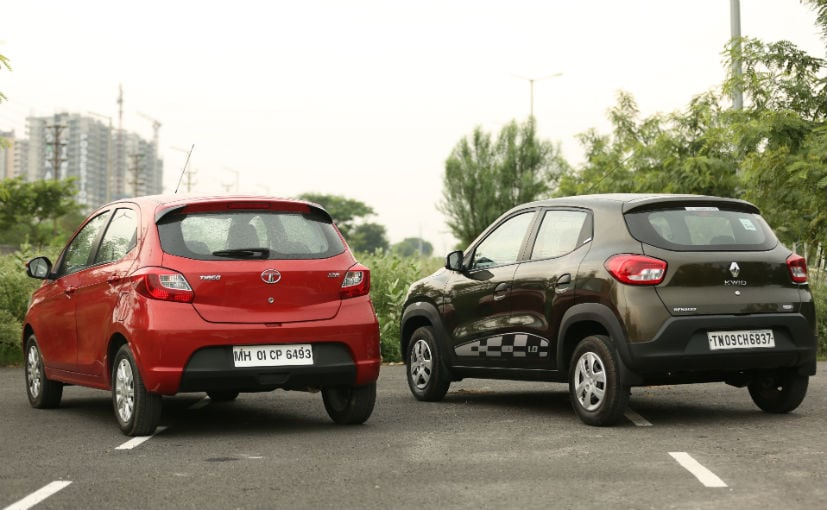 tata tiago vs renault kwid amt comparison design