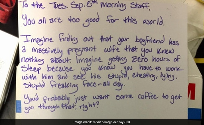Viral: Woman Going Through Bad Breakup Leaves Coffee Shop This Thank You Note