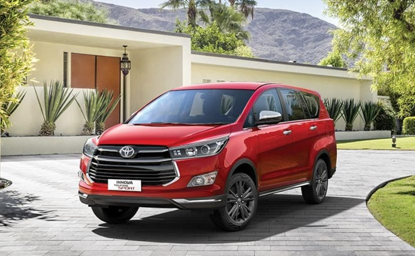 updated toyota innova touring sport edition launched with a 6-speed manual transmission