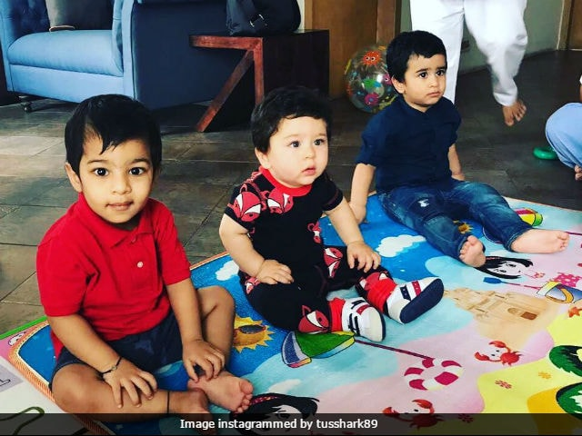 Baby Taimur's Play Date With Tusshar Kapoor's Son Laksshya