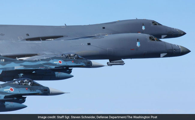 U.S. flies bombers over Korean peninsula for drill