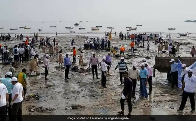 Versova Beach Clean Up In 100th Week, 7.2 Million Kg Plastic Removed