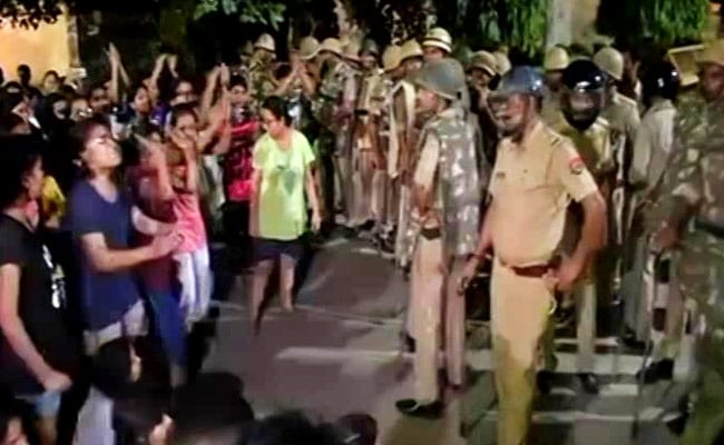 Banaras Hindu University students protest against victim-shaming of molested girl