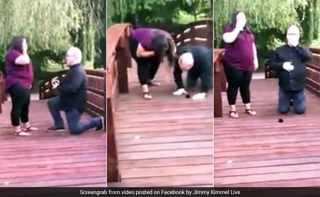 Couple Loses Ring In Viral Wedding Proposal Video. Jimmy Kimmel To The Rescue