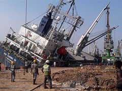 11,000-Tonne Ship Topples After Loading Accident At Visakhapatnam Port