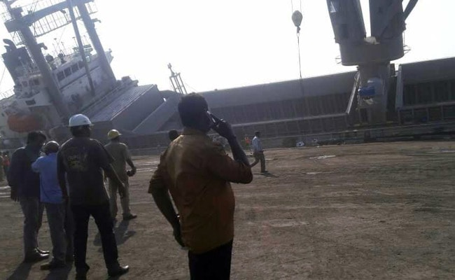 vishakhapatnam ship tilted ndtv 650