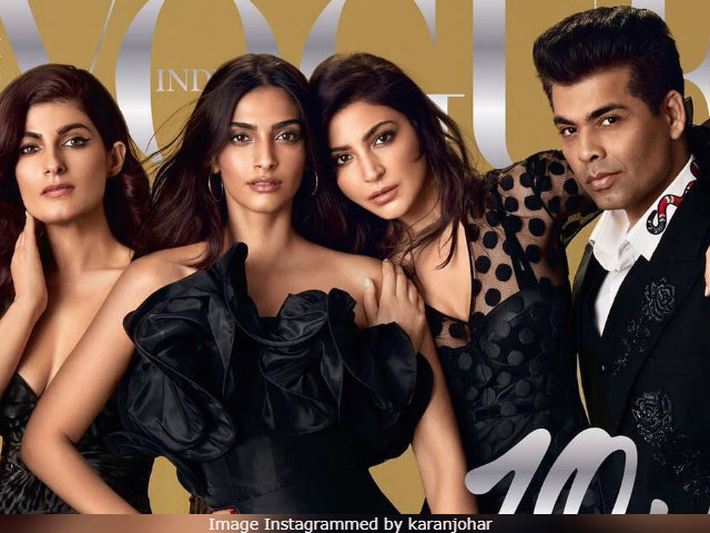 Twinkle Khanna Tweets About Vogue Cover With Fellow Ex 'Chubby Nerd' Karan Johar