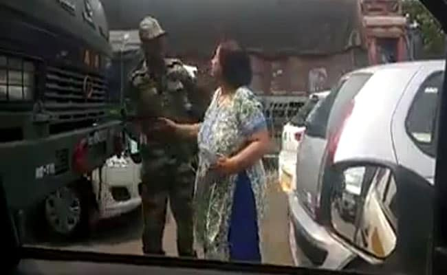 Gurgaon woman caught slapping Army jawan repeatedly in video, held