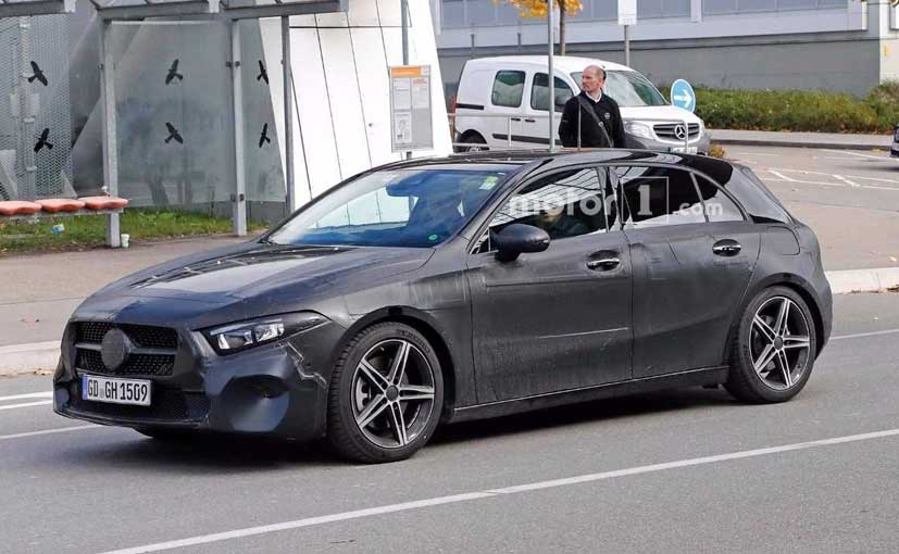 2018 mercedes benz a class spotted testing to debut at. Black Bedroom Furniture Sets. Home Design Ideas