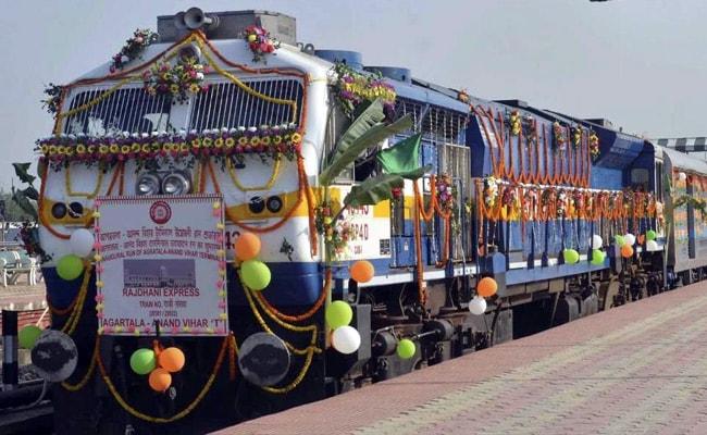 अगरतला पूर्वोत्तर भारत में राजधानी रेल सेवा से जुड़ने वाला चौथा शहर बना