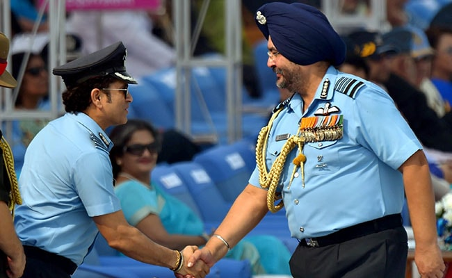 air force day chief dhanoa sachin tendulkar pti