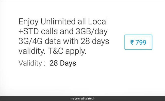 Airtel Offers 3 GBs 4G Data Per Day In Special Recharge