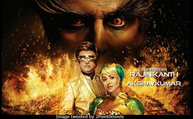 2.0 Poster: Rajinikanth, Akshay Kumar, Amy Jackson's Blazing Look Needs A Cold Shower