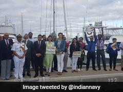 All Women-Crew Sailboat Of Indian Navy INSV Tarini Reaches Australia