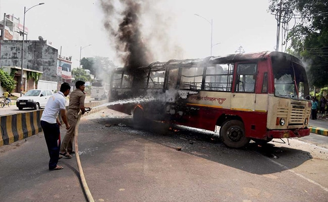 Violence In Allahabad, Buses Set On Fire After BSP Leader's Killing