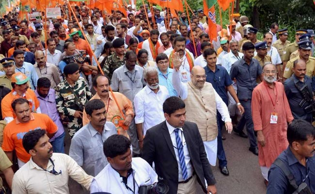Amit Shah To Join 'Janaraksha Yatra' In Kerala Tomorrow