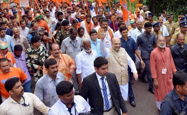 अमित शाह की आज दिल्ली में कनॉट प्लेस से सीपीएम दफ्तर तक जनरक्षा पदयात्रा