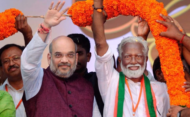 'Fight Us On Development': In Kerala, Amit Shah Takes On CPM, Congress
