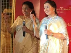 Asha Bhosle Unveils Wax Statue At Madame Tussauds Delhi