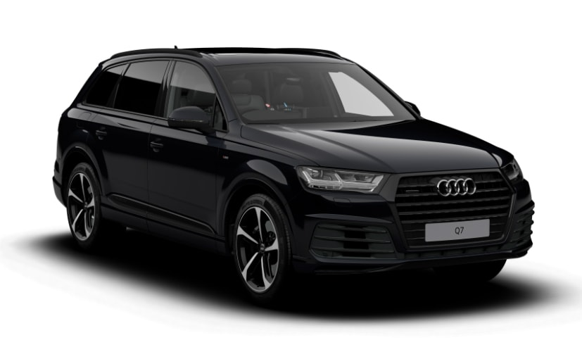 black audi. audi q7 black edition and vorsprung goes on sale internationally