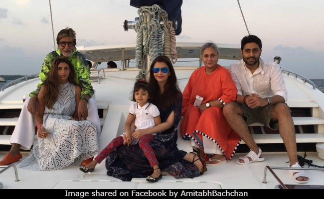Amitabh Bachchan's Birthday Celebrations In Maldives. See Pic