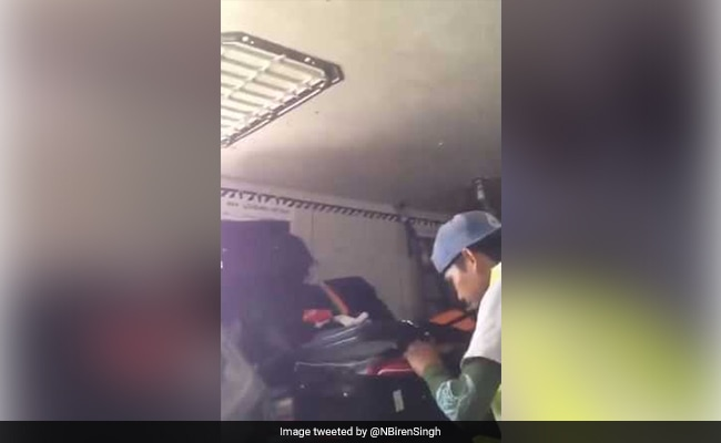 Baggage Handler Steals From Luggage. Manipur Chief Minister Shares Video