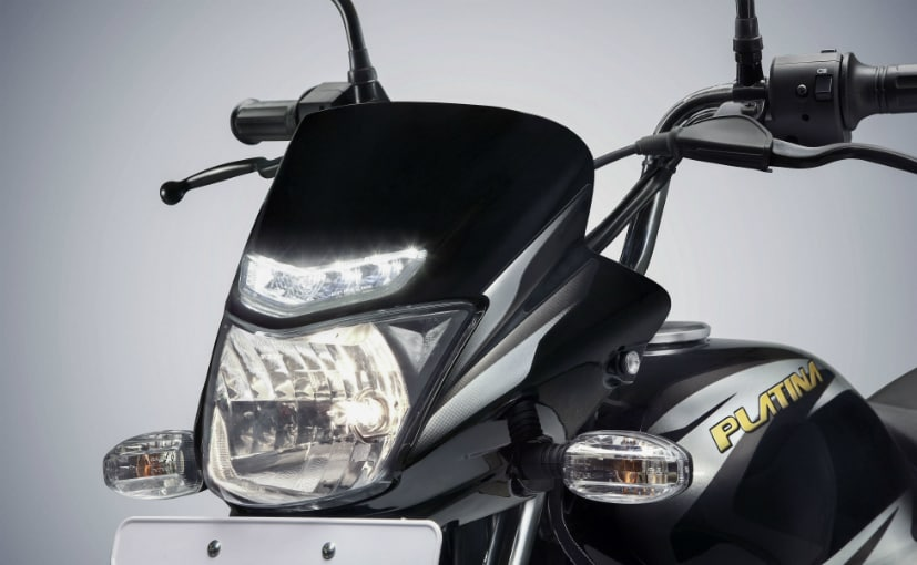 bajaj platina comfortec with led drl