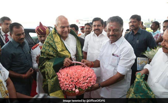Banwarilal Purohit Sworn In As 25th Governor Of Tamil Nadu